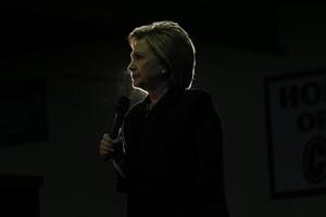CANDIDATA Hillary Clinton, en Blackwood (Nueva Jersey), el miércoles.