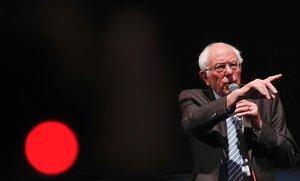 El candidato demócrata Bernie Sanders, durante un acto en Michigan.