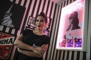 La cantante Anitta, durante una entrevista en Río.