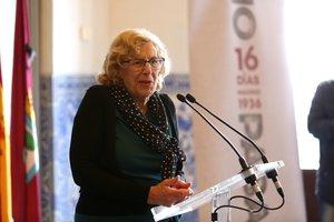La alcaldesa de Madrid y candidata de Más Madrid al Ayuntamiento, Manuela Carmena.