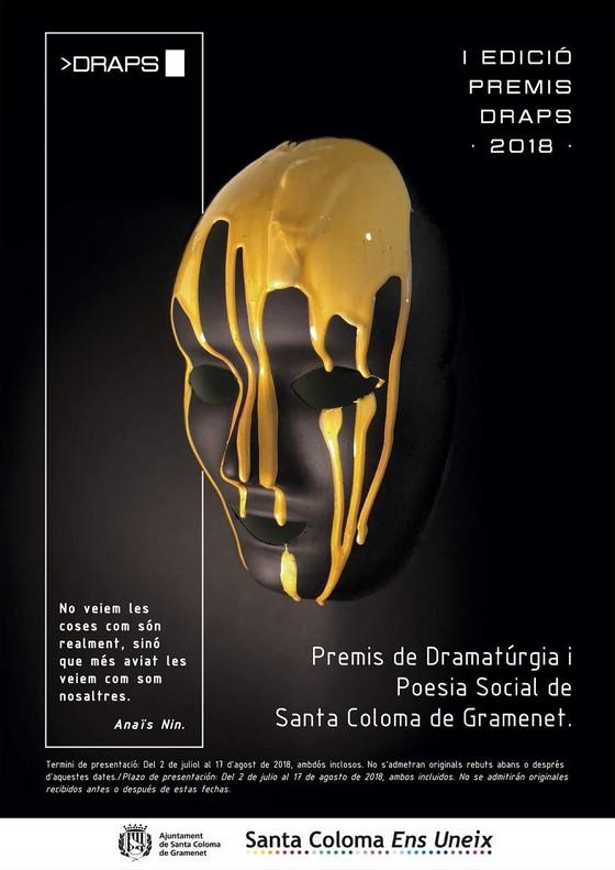 Cartel del I Premio de Dramaturgia y Poesía Social de Santa Coloma.