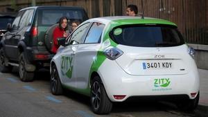 Uno de los vehículos eléctricos de Zity, la nueva compañía de carsharing que ha empezado a operar en Madrid
