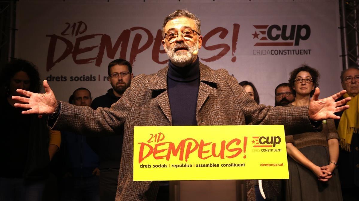 Comparecencia de Carles Riera de la CUP.