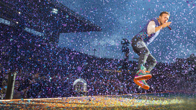Coldplay brilla en Barcelona