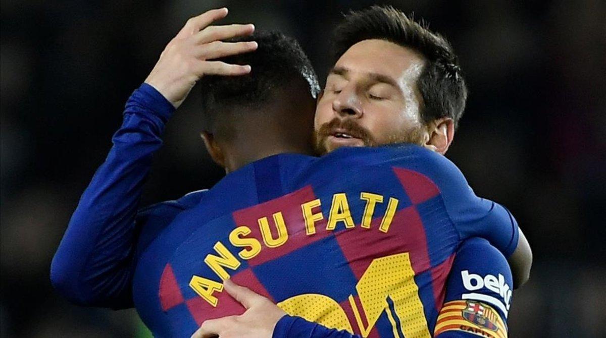 La conexión entre Messi y Ansu Fati ha dado alas al Barça.