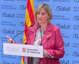 La 'consellera' Alba Vergés, en rueda de prensa.