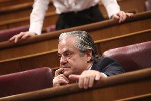 El diputado de Ciudadanos en el Congreso, Marcos de Quinto, durante la sesión de constitución de las Cortes para la XIV Legislatura en el Congreso de los Diputados, Madrid (España), a 3 de diciembre de 2019.