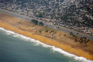 La costa de Abidjan, en Costa de Marfil.