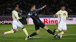 Cristiano no ha estado especialmente brillante en la segunda semifinal del Mundial de Clubs.