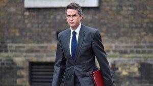 El destituido ministro de Defensa británico, Gavin Williamson, en una imagen de archivo.