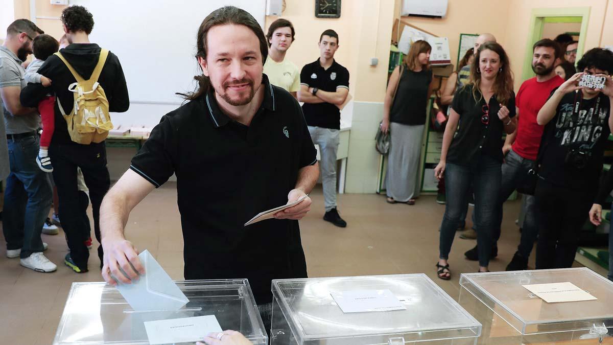 Elecciones 26-M. Pablo Iglesias llama a participar en un momento histórico para el país.