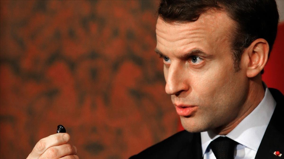El presidente francés, Emmanuele Macron.