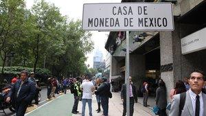 Entrada de la Casa de la Moneda en Ciudad de México