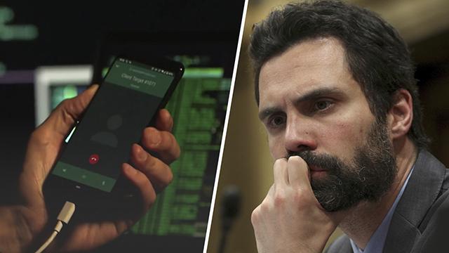 """En España se practica el espionaje político"""": el móvil de Torrent fue atacado por un programa espía exclusivo de los gobiernos."""