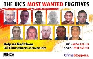 Once fugitivos británicos que podrían esconderse en España.