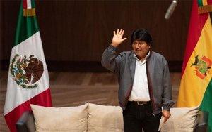 Evo Morales, en un evento público en México.
