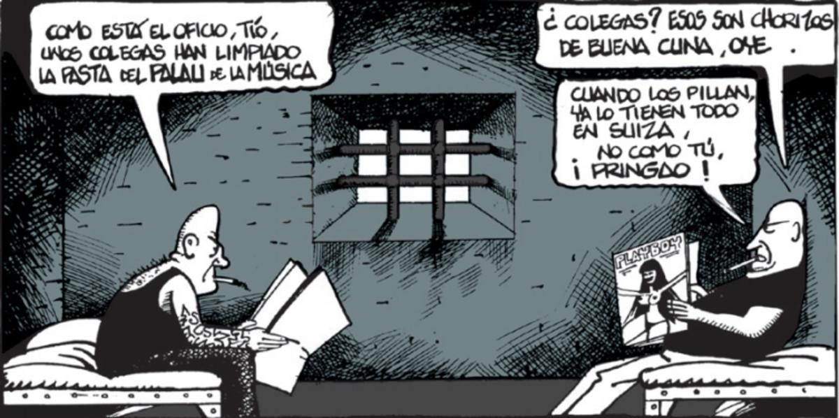 Viñeta de Ferreres sobre el caso Palau del 26 de septiembre del 2009.