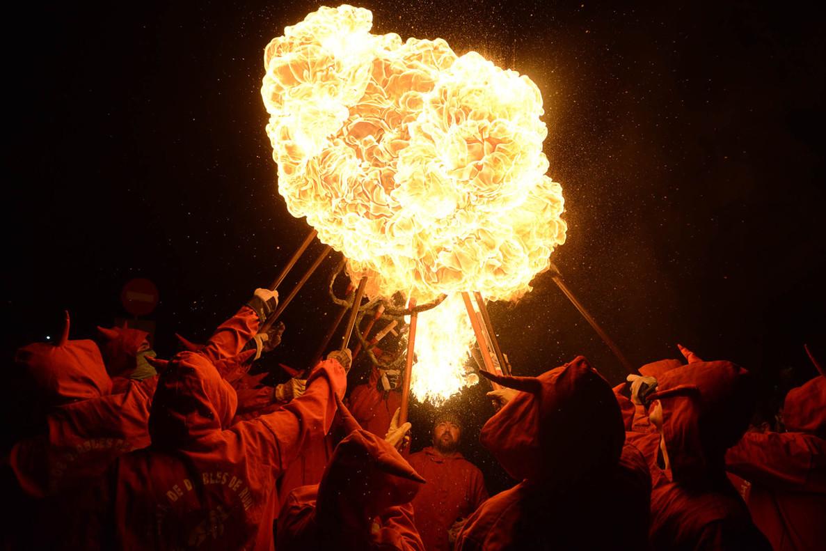 El fuego tendrá de nuevo parte del protagonismo en la Fiesta Mayor de Sant Roc de Rubí