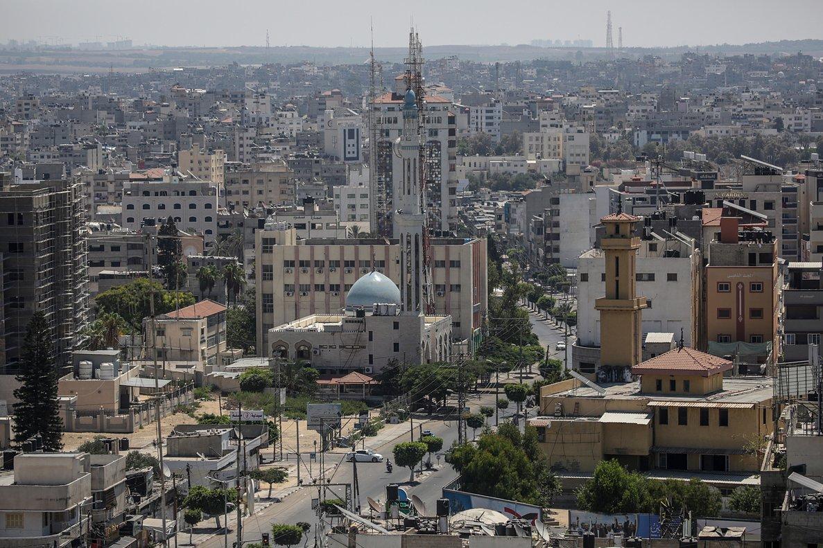 Vista general de la ciudad de Gaza.