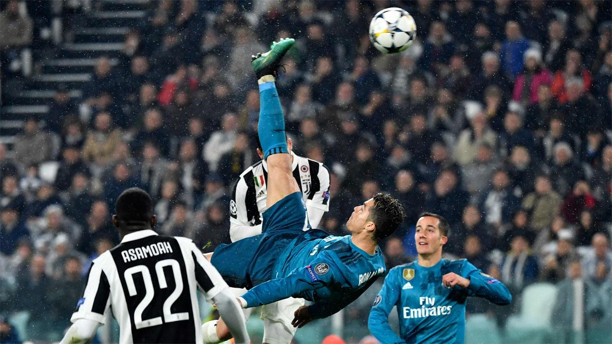 Ronaldo marcó de chilena el segundo gol.