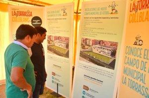Iniciades les obres del nou camp de futbol de la Torrassa, dotades amb 4 milions d'euros