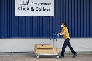 Servicio de entrega de mercancías click & colect de Ikea.