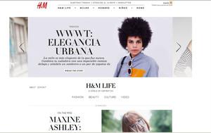 Imatge de la web de H&M, on actualment no permet la compra dels seus producte.