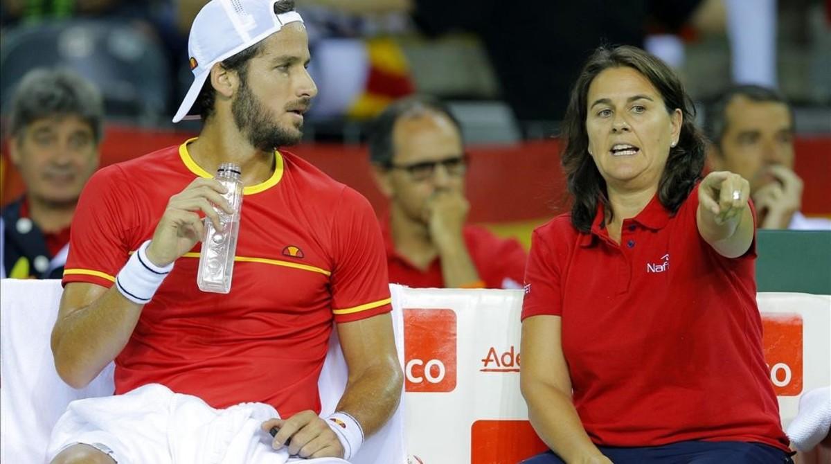 Feliciano aconsegueix el primer punt per a Espanya a la Copa Davis