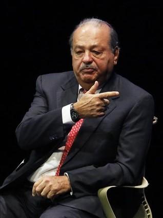 Carlos Slim, durante una conferencia en México.