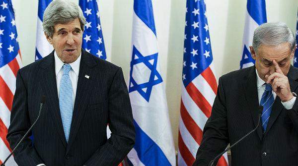 John Kerry se reúne con el primer ministro de Israel, Binyamin Netanyahu.