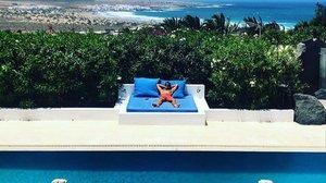 El modelo y actor, de vacaciones en Lanzarote.
