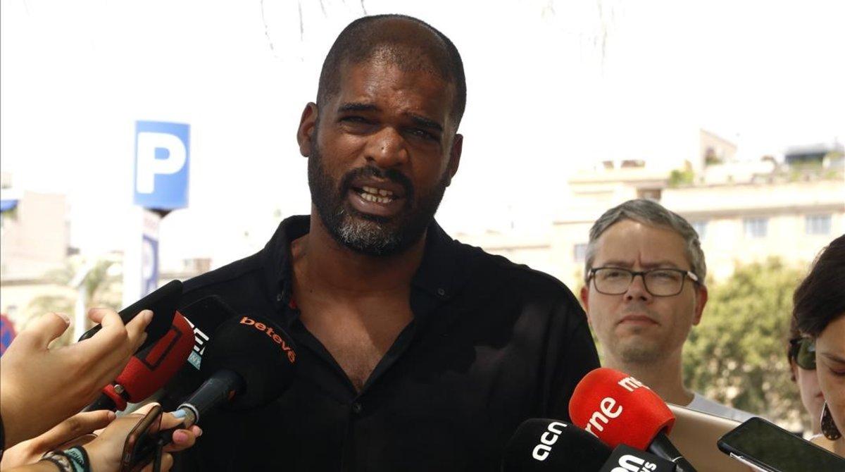 Jordi Magrinyà, en la rueda de prensa de este martes.