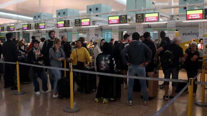 Jornada de huelga del personal de tierra de Iberia en el aeropuerto de El Prat.