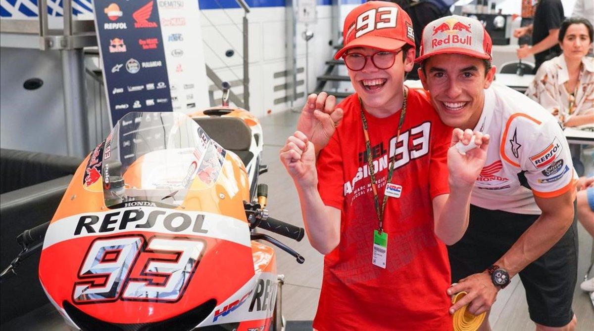 José Luis Cazalla 'Super Celu' y Marc Márquez, uno de sus grandes amigos, volvieron a verse hoy en Jerez.