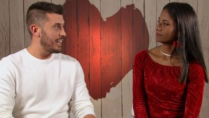 Juan Antonio y Tamara en 'First Dates'.