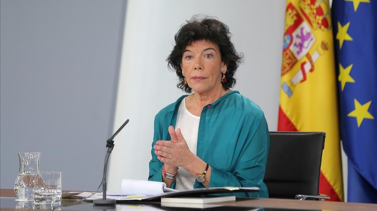 La portavoz del Gobierno, IsabelCelaá.