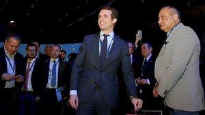 Pablo Casado, en el Congreso del Partido Popular Europeo.