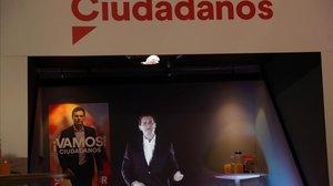 El líder de Ciudadanos, Albert Rivera, en el acto de inicio de campaña en Madrid.