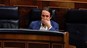 El líder de Podemos, Pablo Iglesias, en el Congreso de los Diputados,el pasado 3 de junio.