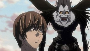 Light y su 'shinigami', en el anime 'Death note'.