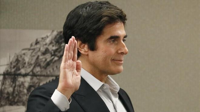 El ilusionista David Copperfield, durante el juicio en Las Vegas.