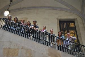 Los representantes de las ciudades literarias de la Unesco, en el Ateneu Barcelonès.