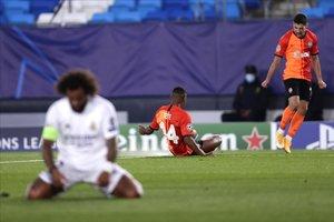 Marcelo se lamenta después de uno de los goles del Shakhtar