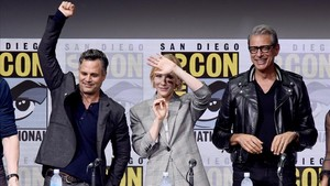 Mark Ruffalo, Cate Blanchett y Jeff Goldblum, en el panel sobre Thor Ragnarok.