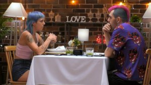 Nekane y José Manuel en 'First Dates'.