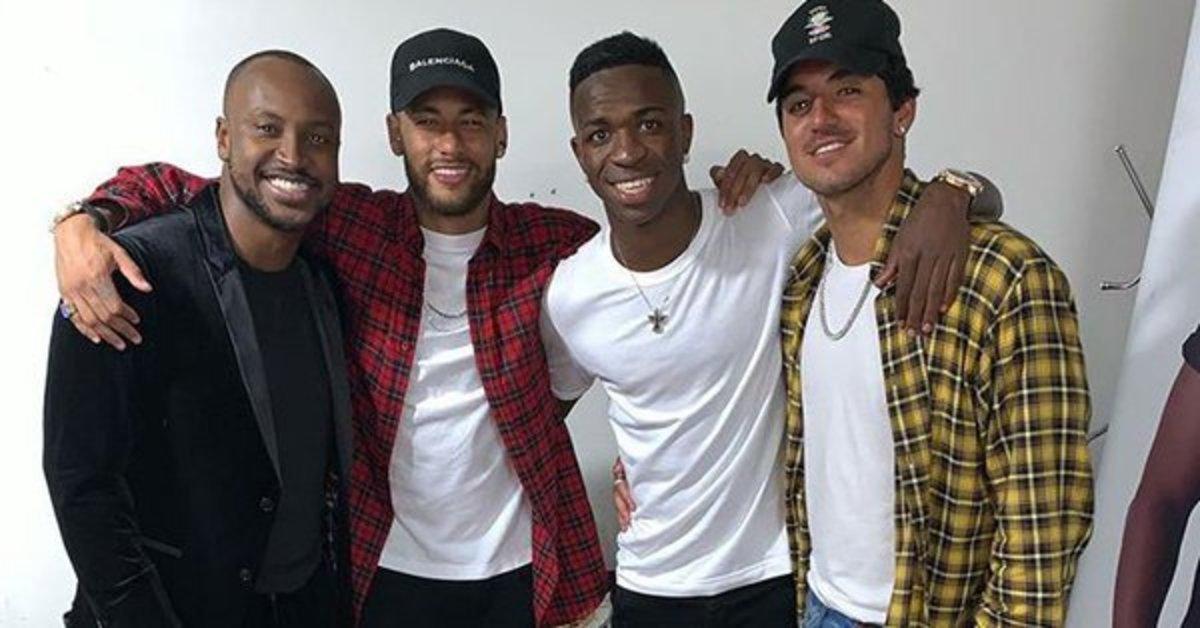 Neymar, en el cumpleaños de Vinicius