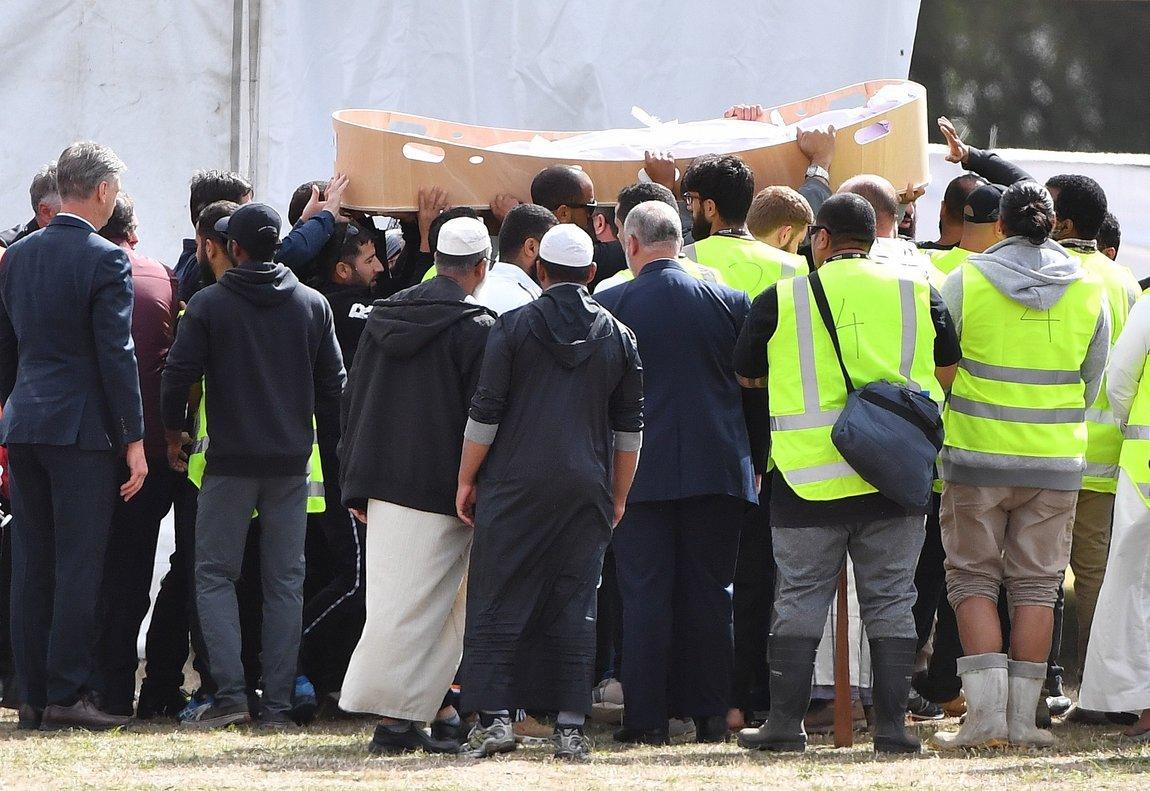 Entierro de las víctimas del atentado en dos mezquitas deNueva Zelanda. EFE