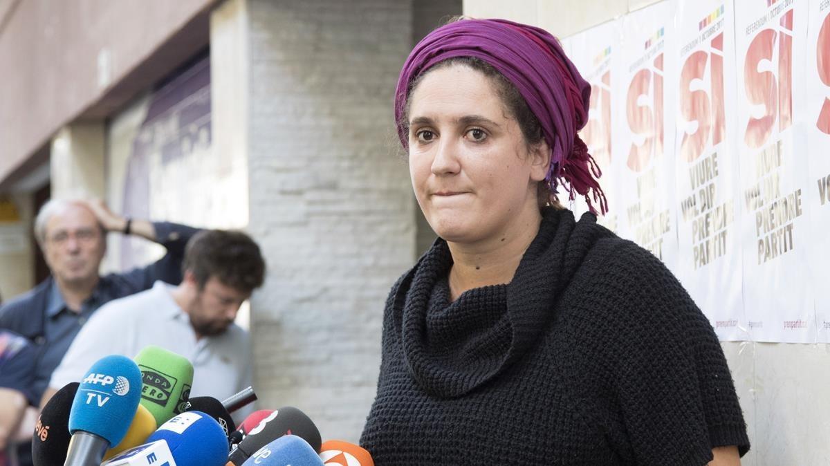 Núria Gibert, portavoz del secretariado nacional de la CUP.