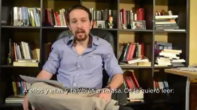 Pablo Iglesias pide perdón por las discrepancias en Podemos.
