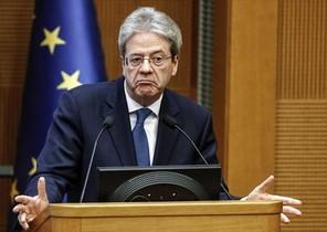 Paolo Gentiloni, ayer, durante el anuncio de la disolución del Parlamento y la convocatoria de elecciones.